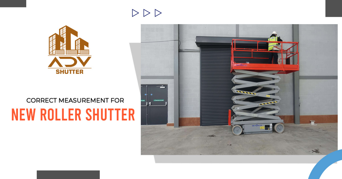 What is the correct way to measure for the new roller shutter garage? 2