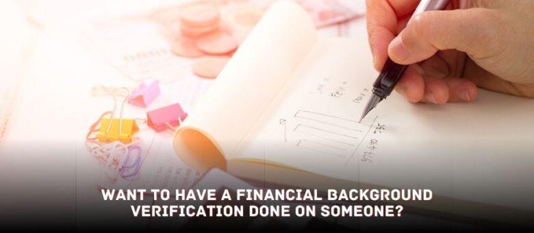 financial background verification